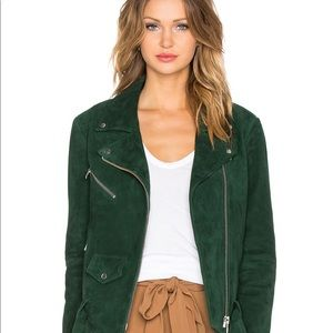 🔴Green Suede jacket size small